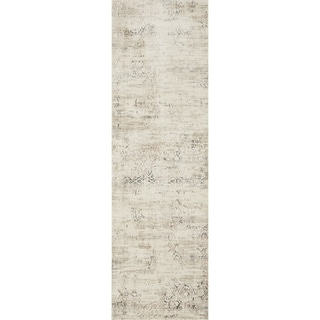 Augustus Ivory/ Stone Rug (2'7 x 8')