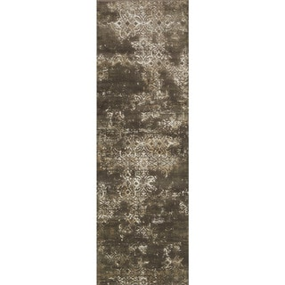 """Alexander Home Augustus Persian Inspired Distressed Area Rug - 2'7"""" x 8'"""