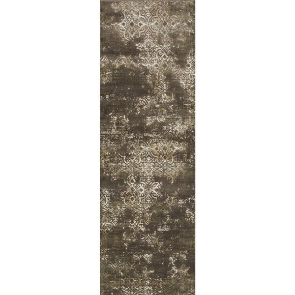 "Augustus Dark Taupe/ Multi Rug - 2'7"" x 8'"