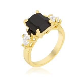 Jet Black Cocktail Ring