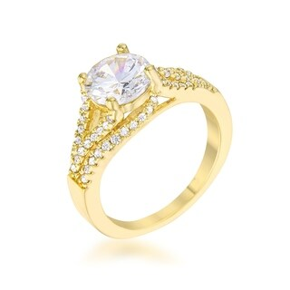 Irine 2.3Ct Cz Gold Classic Ring - Clear