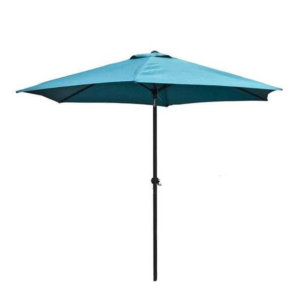 Shop Aleko 9 Feet Outdoor Garden Patio Steel Umbrella