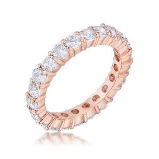 Jessica Band in Rose Goldtone Finish - Clear