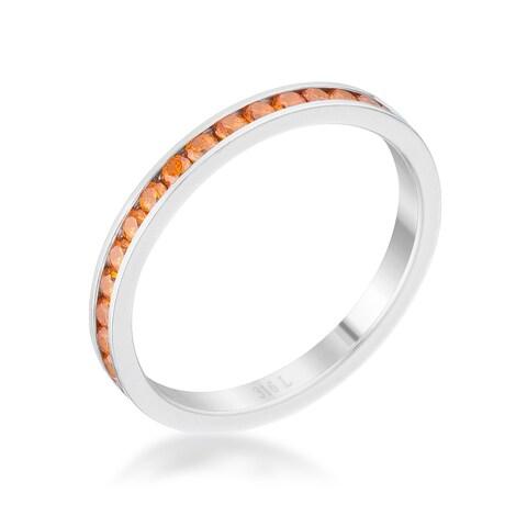 Teresa 0.5ct Orange CZ Stainless Steel Eternity Band