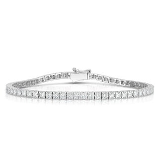 Noray Designs 14K White Gold Diamond (3.80 Ct, G-H Color, SI2-I1 Clarity) Tennis Bracelet