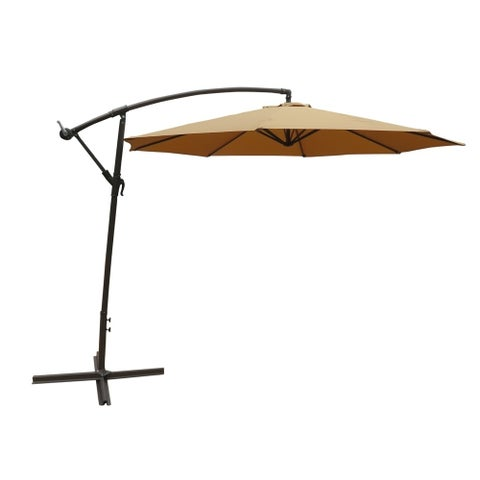 ALEKO 10 Feet Adjustable Outdoor Garden Patio Banana Hanging Umbrella