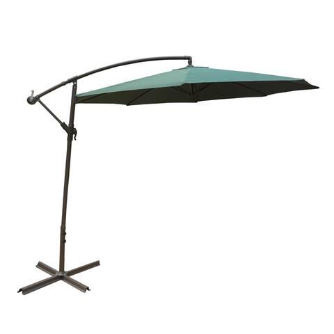 Aleko 10 Feet Adjule Outdoor Garden Patio Banana Hanging Umbrella