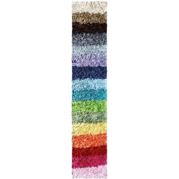 Shaggy Raggy Blanket Multi/ Cotton Area Rug - 2'x8'