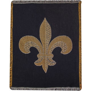 Manual Fleur De Lis Multicolor 2 Layer Throw