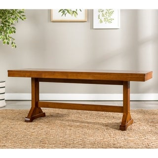 Millwright Antique Brown Finish Wood 48-inch Dining Bench