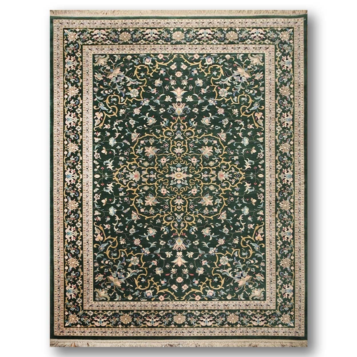 Karastan Tabriz Green Wool Handwoven Persian Oriental Are...