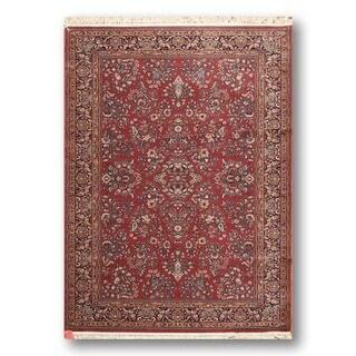 Karastan Sarouk Multicolor Wool Oriental Rug (5'6 x 8'6)