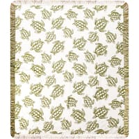 Manual Woodworkers Sea Turtle Multicolor Throw