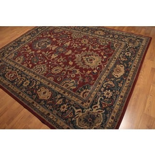 Turkish Oushak Multicolor Pure Wool Machine-made Oriental Rug (9' x 10')|https://ak1.ostkcdn.com/images/products/17166816/P23429400.jpg?impolicy=medium