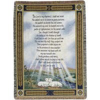 Manual Woodworkers 23rd Psalm Multicolor Tapestry Throw