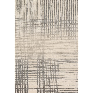 Brently Ivory/ Grey Abstract Rug (9'2 x 12'7)