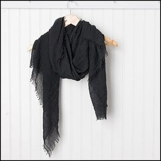 "Tickled Pink Classic Soft Solic Lightweight Scarf 38 x 70"" - Black"