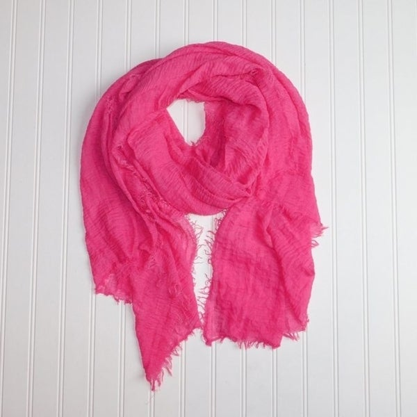 """Tickled Pink Classic Lightweight Scarf 38 x 70"""" - Bright Pink"""