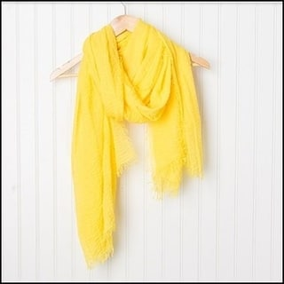 "Tickled Pink Classic Soft Solic Lightweight Scarf 38 x 70"" - Yellow"