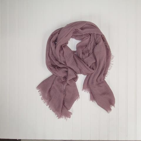 Tickled Pink Classic Soft Solid Lightweight Scarf