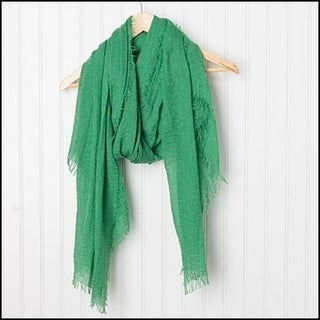 """Tickled Pink Classic Soft Solic Lightweight Scarf 38 x 70"""" - Green"""