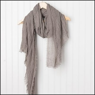 """Tickled Pink Classic Soft Solic Lightweight Scarf 38 x 70"""" - Taupe"""
