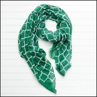 """Tickled Pink Vibrant Lightweight Scarf 40 x 70"""" - Green"""