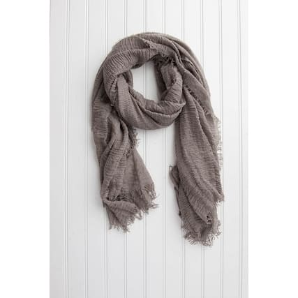 """Tickled Pink Insect Shield Lightweight Summer Scarf - 38 x 70"""", Taupe"""