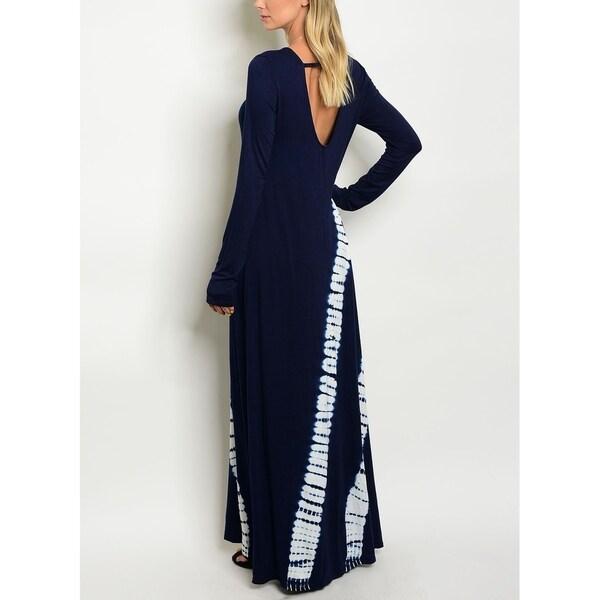 Knit fabric maxi dress