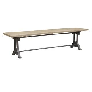 Caribou Dane Greydon Natural Wood Seat Bench