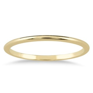 1mm Thin Domed Wedding Band in 14K Yellow Gold