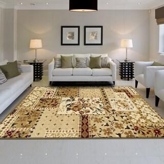 Miranda Haus Designer Flower Patch Area Rug (8' x 10') - 8' x 10'