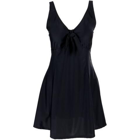 Bawdy Women's Plus Size Hibiscus Flower Swim Dress