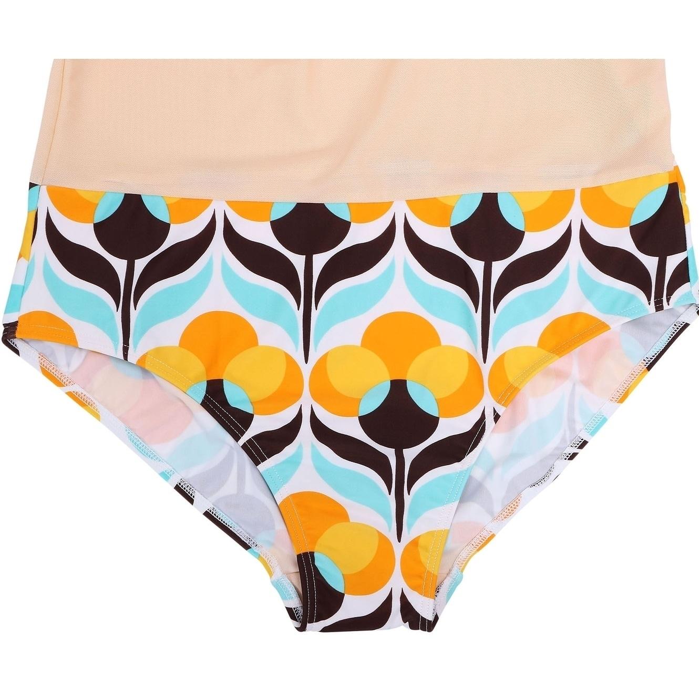 b30fc4b35f109 Bawdy Women s Plus Size Hibiscus Flower Swim Dress