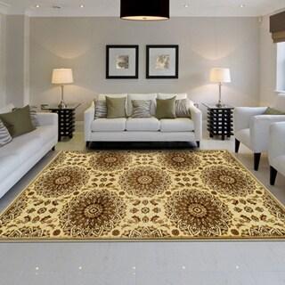 Miranda Haus Designer Marigold Area Rug (5' x 8') - 5' x 8'