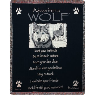 Manual Advice From a Wolf Throw
