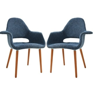 Poly and Bark Barclay Dining Chair in  Blue (Set of 2)