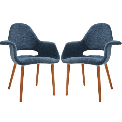 EdgeMod Barclay Dining Chair in Blue (Set of 2)