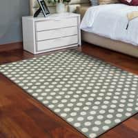 Superior Designer Dot Area Rug (4' x 6') - 4' x 6'