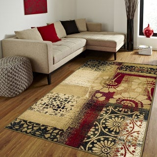 Superior Designer Patchwork Area Rug (8' x 10')