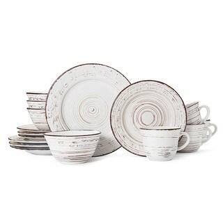 Pfaltzgraff Trellis White Stoneware 16-piece Dinnerware Set