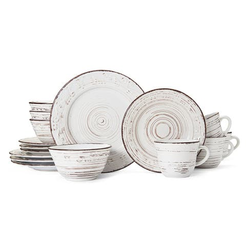 Pfaltzgraff Everyday Trellis White 16-piece Dinnerware Set