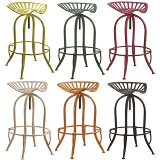 Industrial Vintage Design Adjustable Swivel Bar Stool