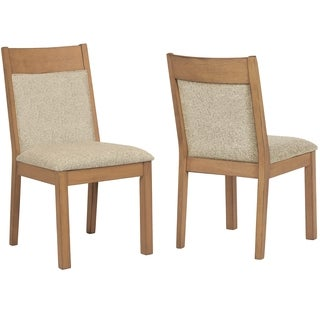 French Design Upholstered Dining Chairs (Set of 2)