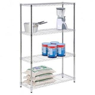 "Commercial 48"" x21"" x14"" 4 Tier Layer Shelf Adjustable Wire Metal Shelving Rack"