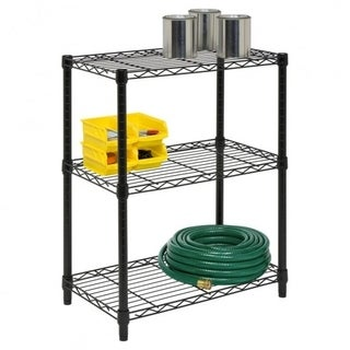 Diamond Home Commercial 32-inch x 21-inch 3-Tier Adjustable Wire Metal Rack