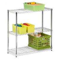 "Commercial 32"" x21"" x14"" 3 Tier Layer Shelf Adjustable Wire Metal Shelving Rack"