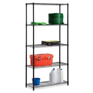 Diamond Home Commercial 61-inch x 21-inch 5-Tier Adjustable Wire Metal Rack