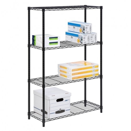 Wire Metal Shelving | Shop Commercial 48 X21 X14 4 Tier Layer Shelf Adjustable Wire