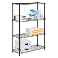 "Commercial 48"" x21"" x14"" 4 Tier Layer Shelf Adjustable Wire Metal Shelving Rack"